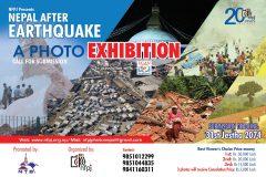 """५० हजार भ्युवर्स च्वाईस पुरस्कार सहितको """"भुकम्पपछिको नेपाल'' शीर्षकमा राष्ट्रिय फोटोपत्रकार समुहले फोटो प्रदर्शनीको आयोजना गर्ने ।"""